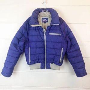 Vintage Serac Purple Gray Puffer Ski Jacket Medium